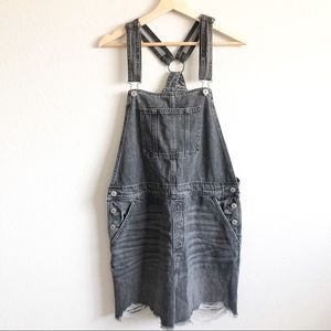 NEW• AMERICA EAGLE OUTFITTERS DENIM OVERALL DRESS